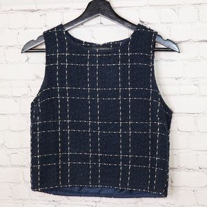 Forever 21 plaid blue vest